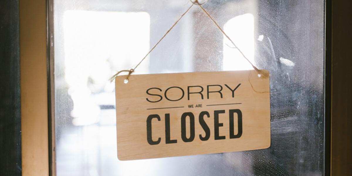 closed sign on restaurant - best rated restaurant insurance park ridge nj